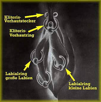 weibliche und Männliche Intimpiercings und Beadings